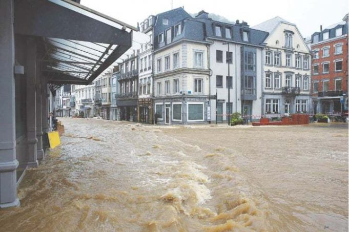 Storms cause heavy flooding